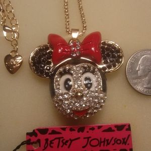 Jewelry - Betsey Johnson Minne Mouse Necklace